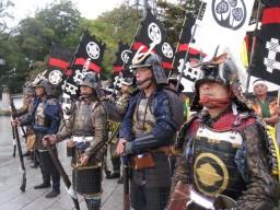 Armor samurai parade of about 300 people